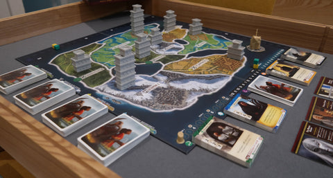Path of Light and Shadow board set up