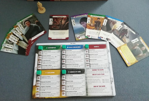 Path of Light and Shadow player board and cards