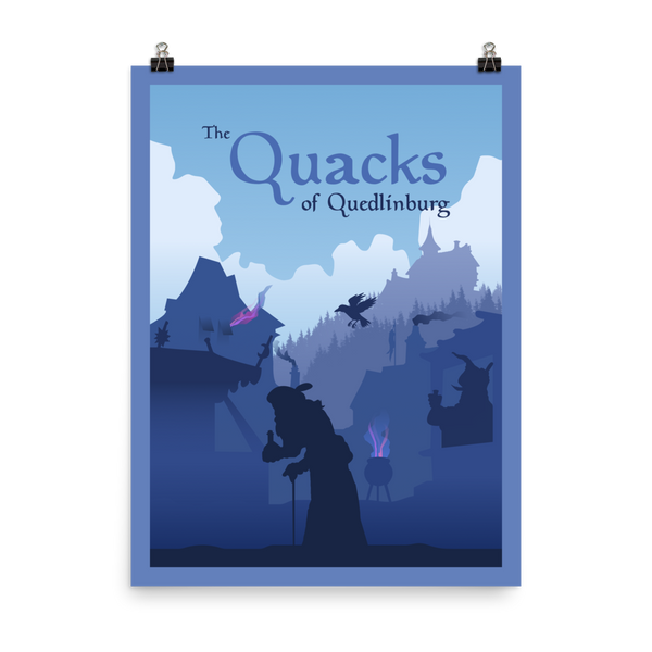 The Quacks of Quedlingburg Minimalist Board Game Art Poster
