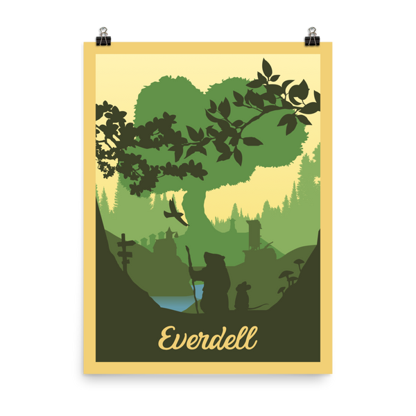 Everdell Minimalist Board Game Art Poster (Authorised)