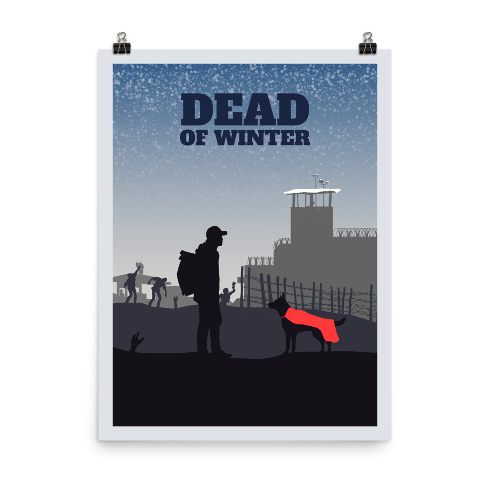 Dead of Winter Minimalist Board Game Art Poster