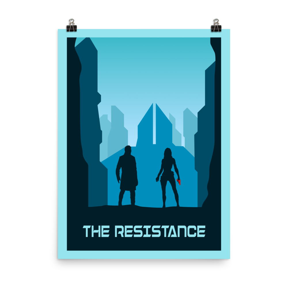 The Resistance (Blue) Minimalist Board Game Art Poster