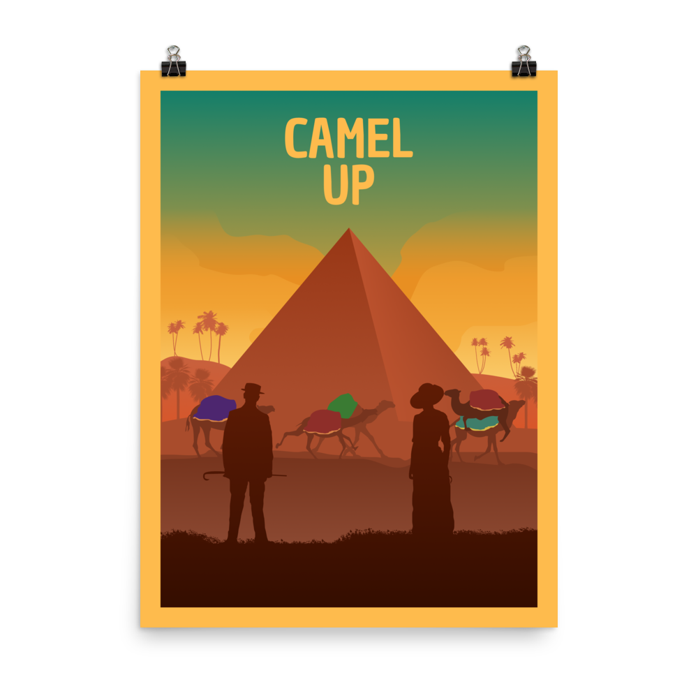 Camel Up Minimalist Board Game Art Poster