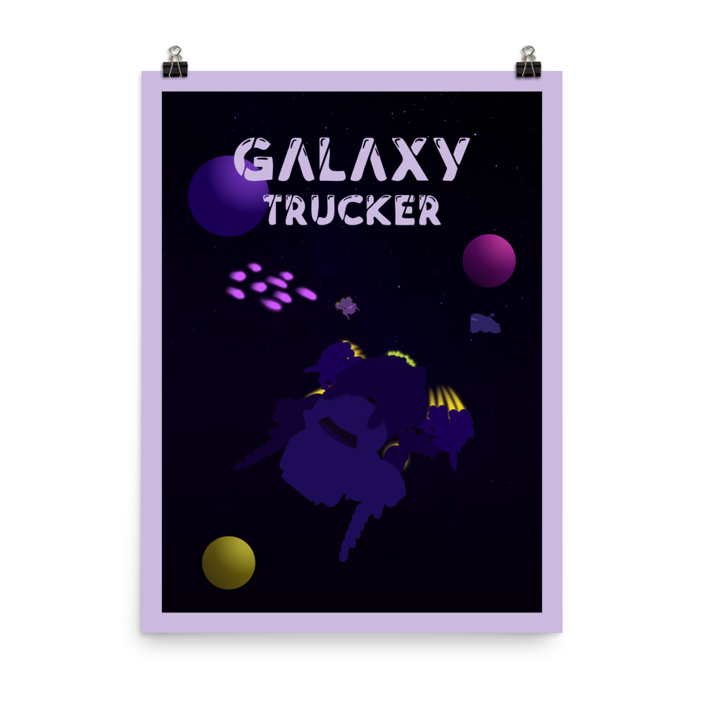 Galaxy Trucker Minimalist Board Game Art Poster