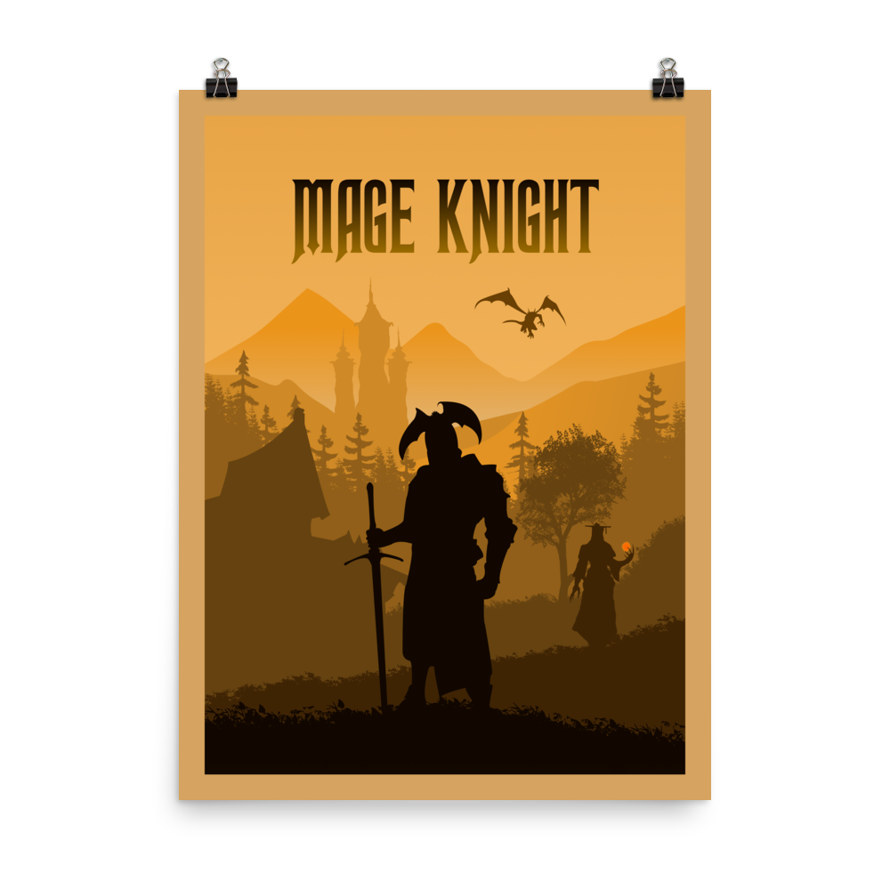 Mage Knight Minimalist Board Game Art Poster