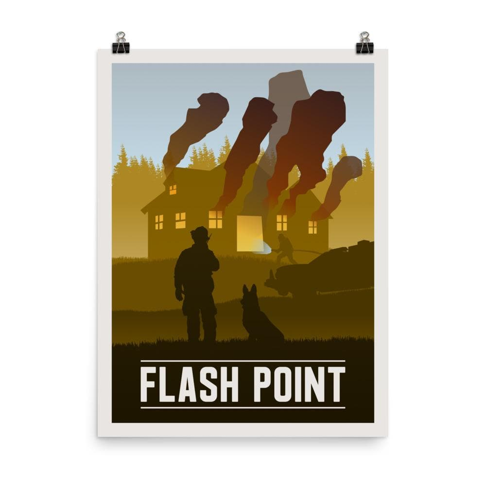 Flash Point Minimalist Board Game Art Poster