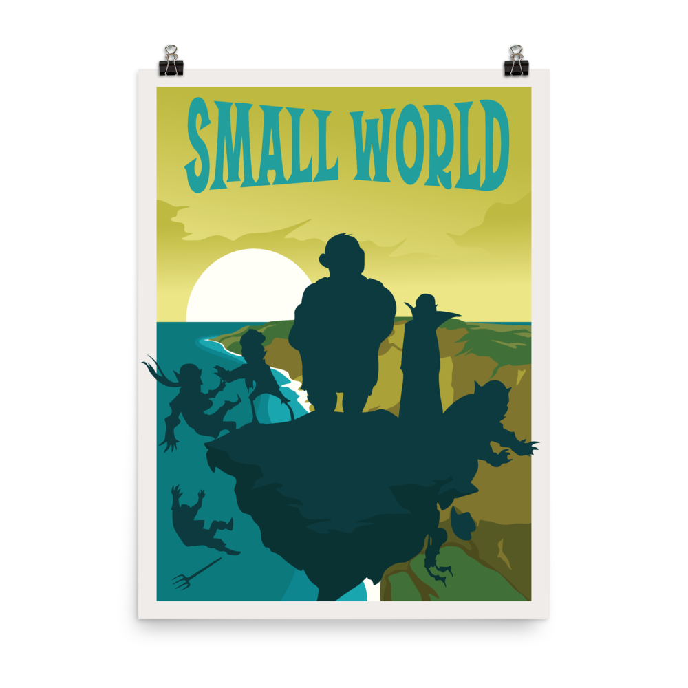 Small World Minimalist Board Game Art Poster