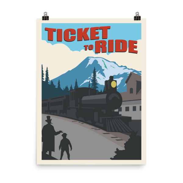 Ticket to Ride Minimalist Board Game Art Poster