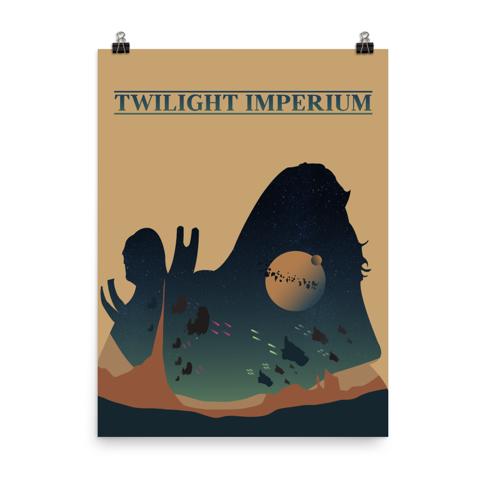 Twilight Imperium Board game Silhouette Art Poster