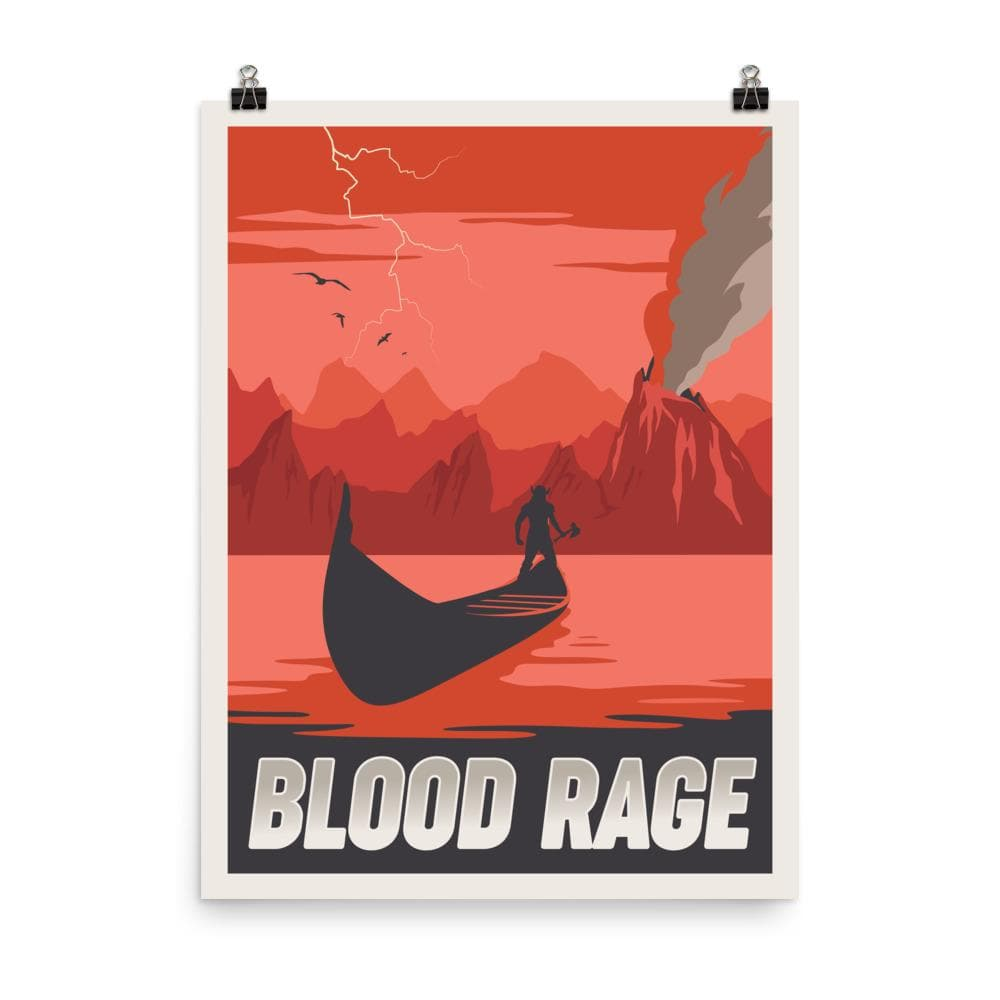 Blood Rage Minimalist Board Game Art Poster