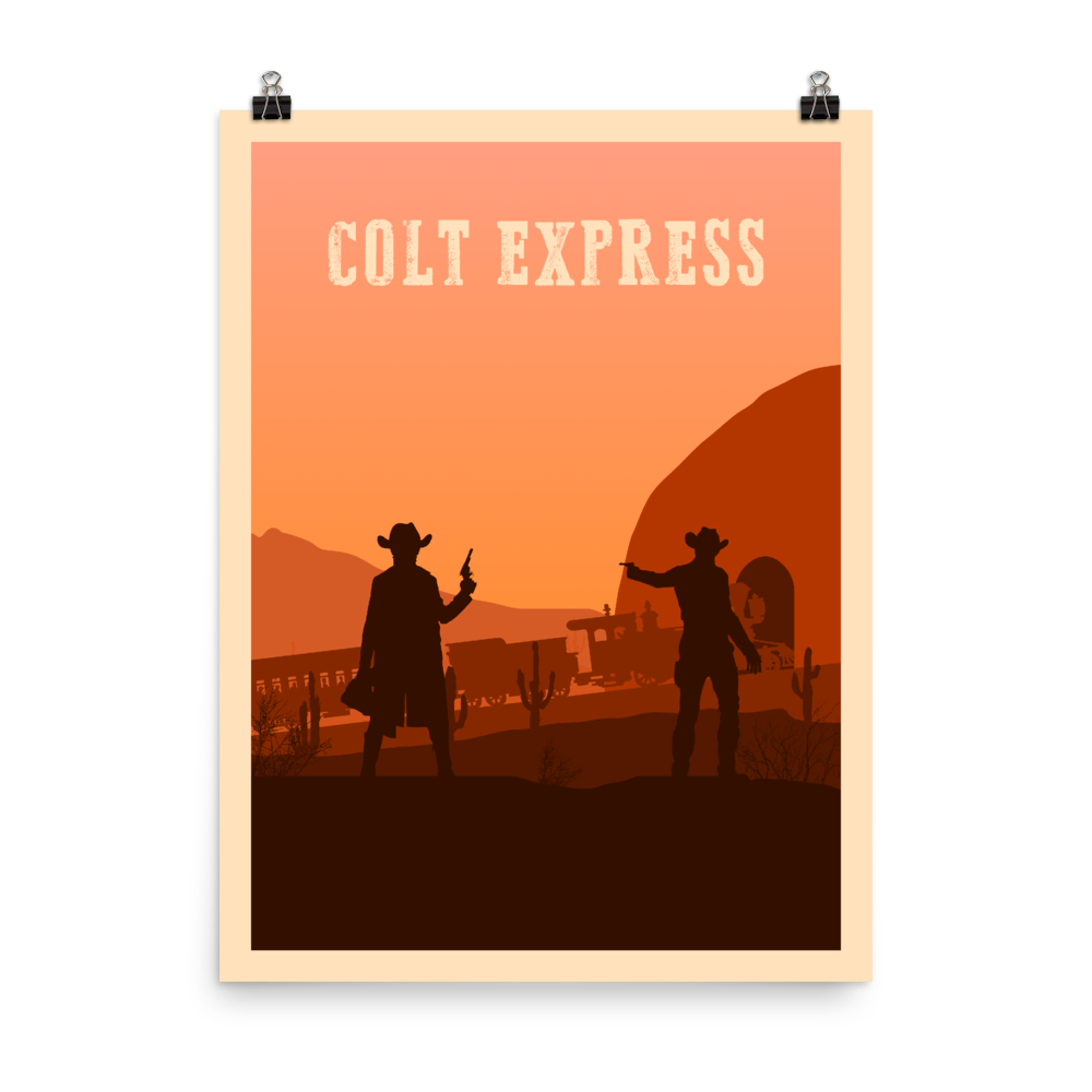 Colt Express Minimalist Board Game Art Poster