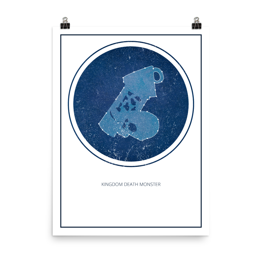 Kingdom Death Monster Board Game White Star Constellation Art Poster