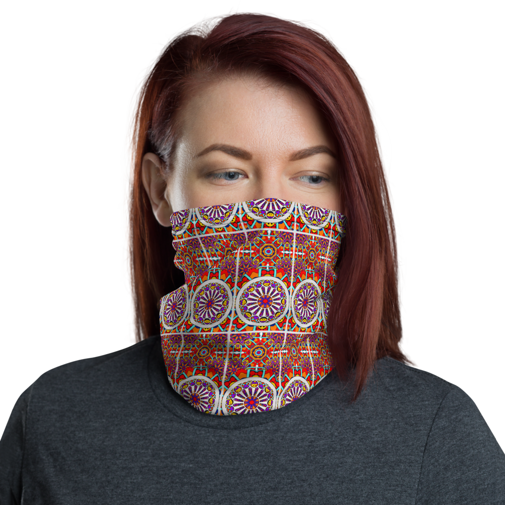 Sagrada (rectangle pattern) Inspired Unisex Neck Gaiter/ Face Mask