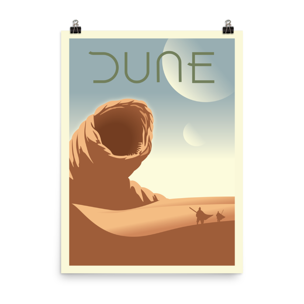 Dune Minimalist Board Game Art Poster