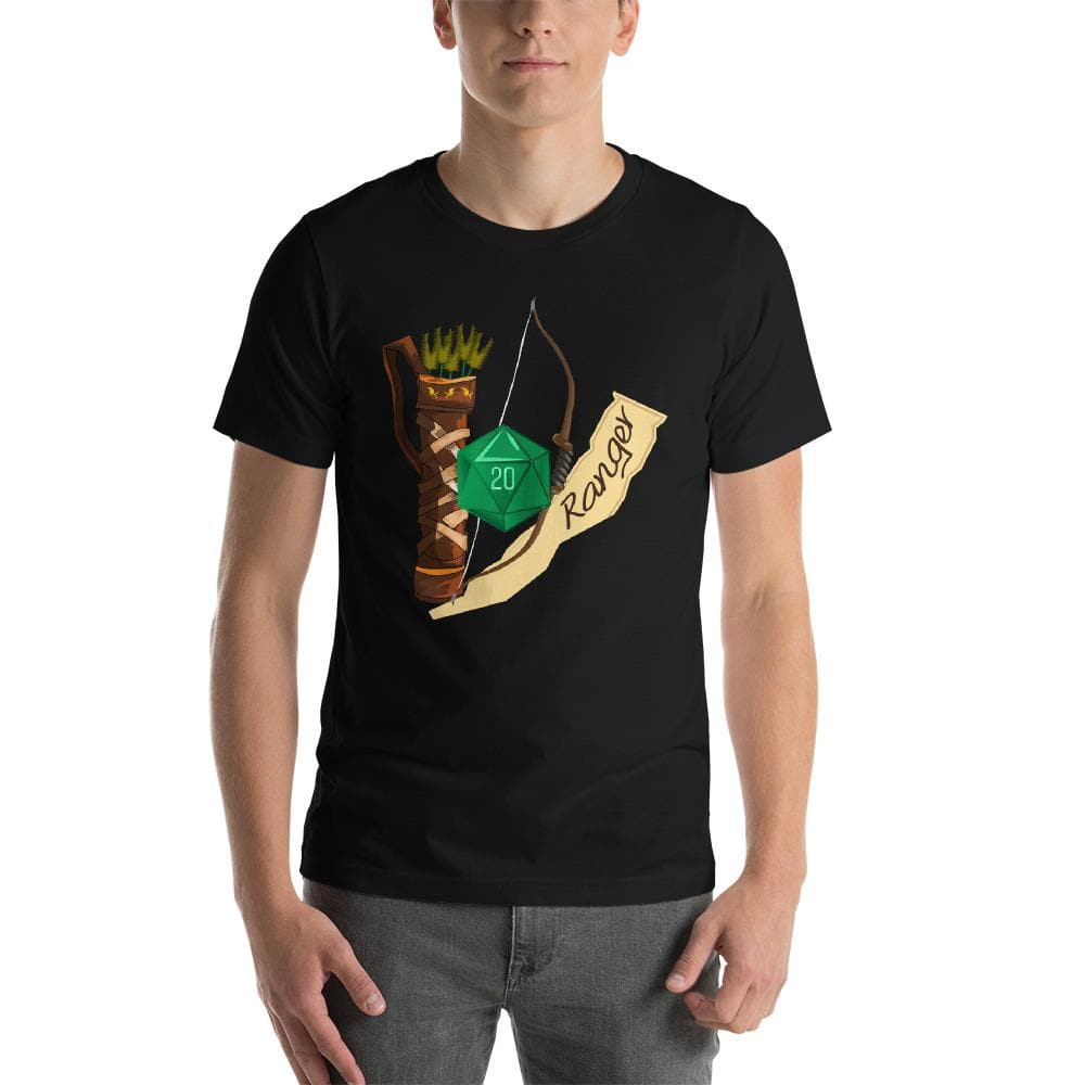 Ranger Dungeons and Dragons Unisex T-Shirt - DnD 5E Class Design - D20 D&D Dice