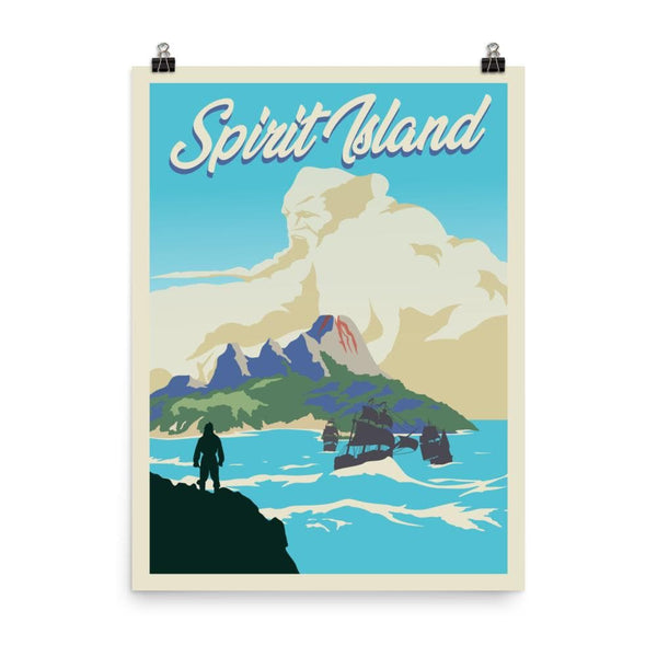 Spirit Island Minimalist Board Game Art Poster