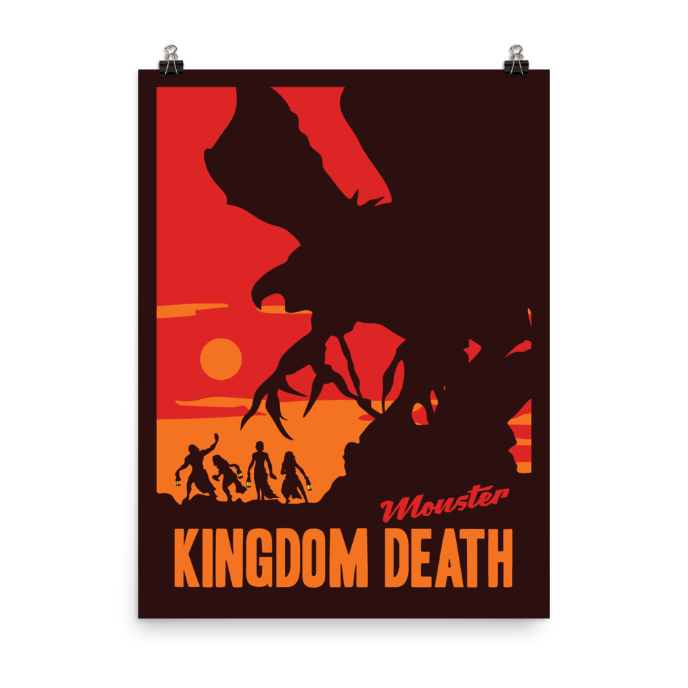 Kingdom Death Monster Minimalist Board Game Art Poster