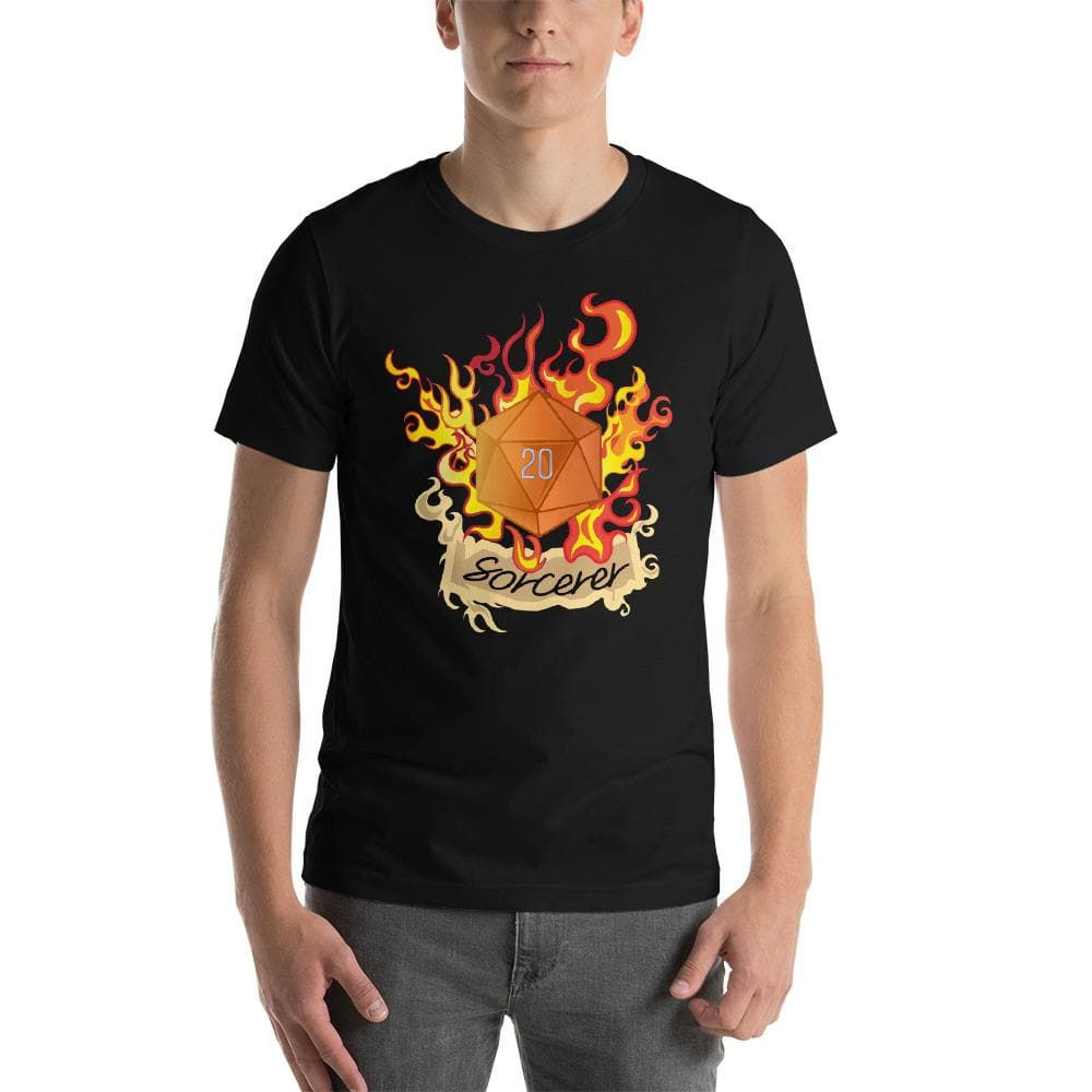 Sorcerer Dungeons and Dragons Unisex T-Shirt - DnD 5E Class Design - D20 D&D Dice