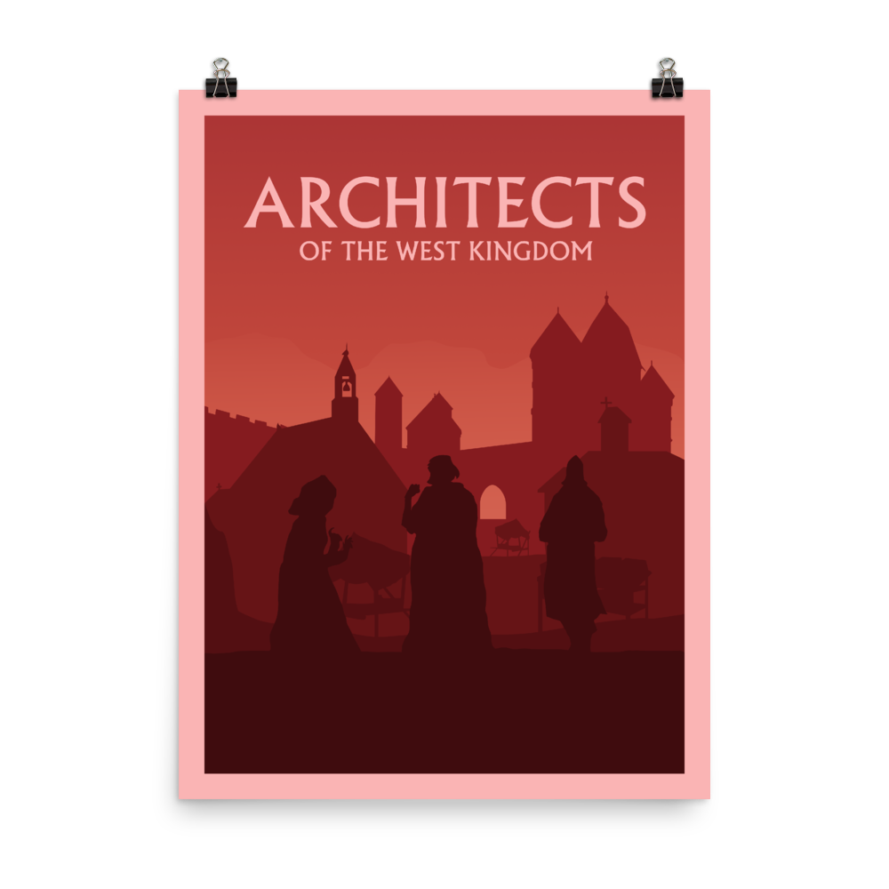 Architects of the West Kingdom Minimalist Board Game Art Poster