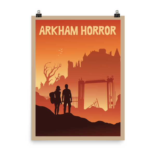 Arkham Horror Minimalist Board Game Art Poster