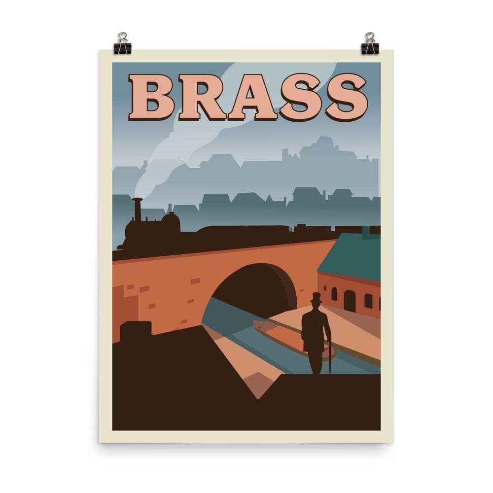 Brass Minimalist Board Game Art Poster