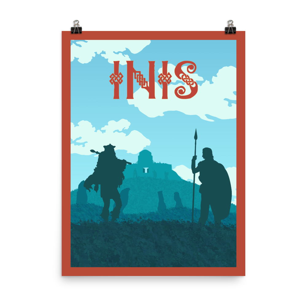 Inis Minimalist Board Game Art Poster