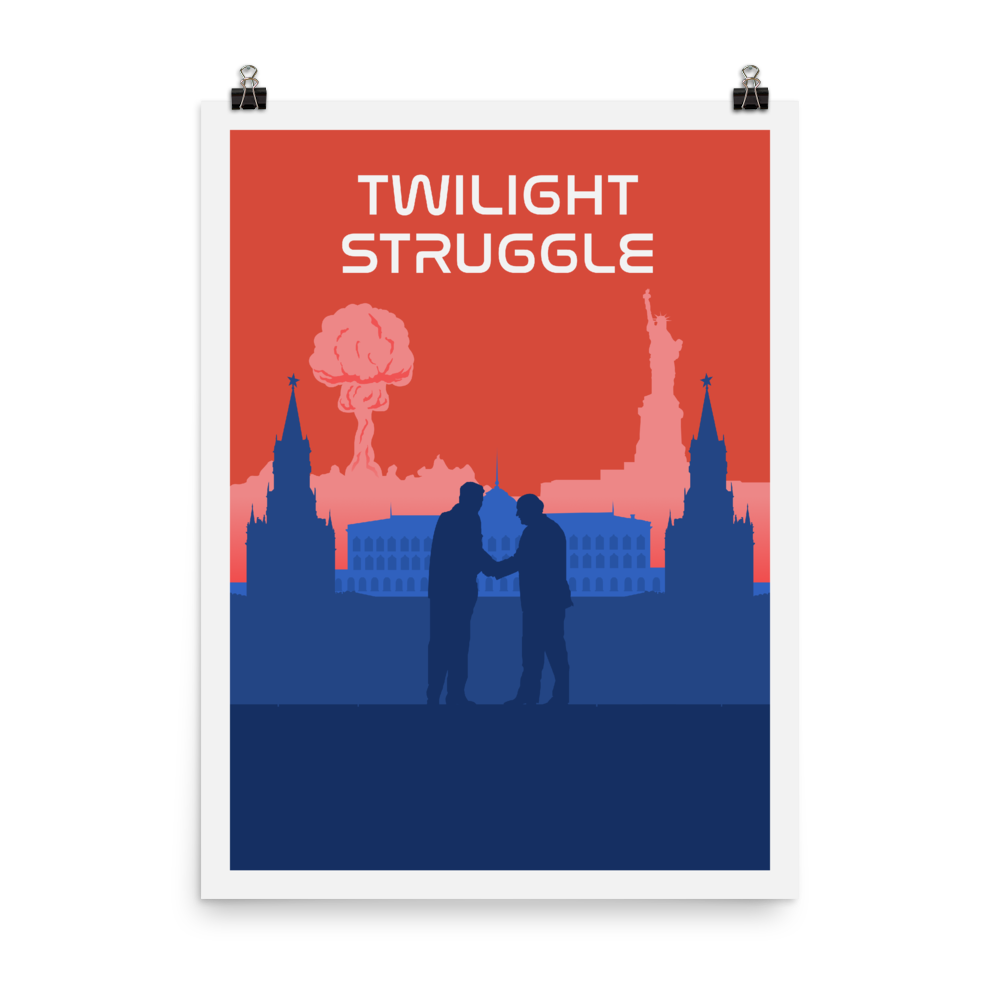 Twilight Struggle Minimalist Board Game Art Poster
