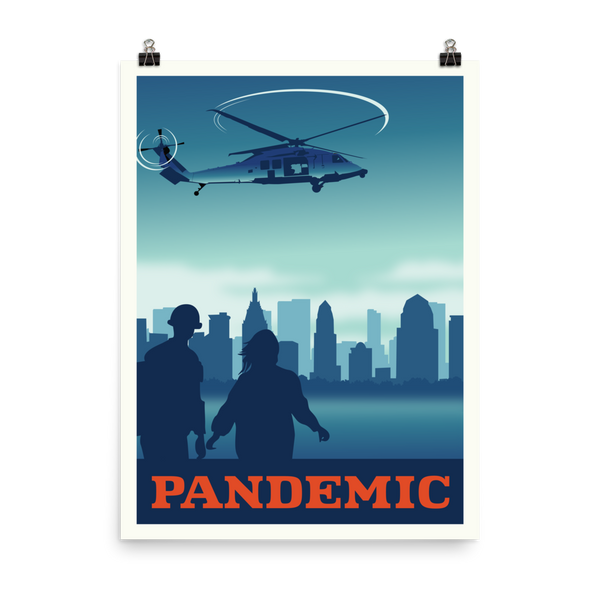 Pandemic Minimalist Board Game Art Poster
