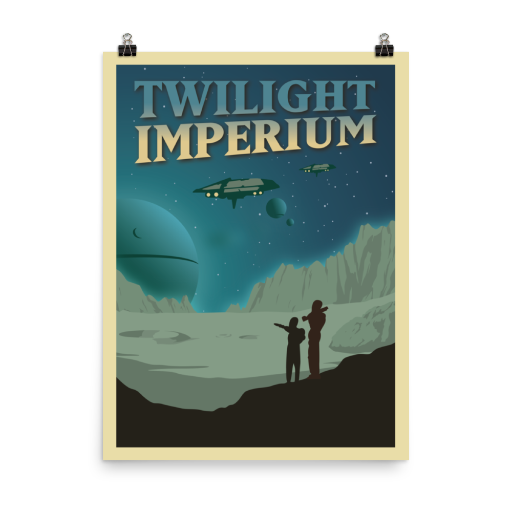 Twilight Imperium Minimalist Board Game Art Poster