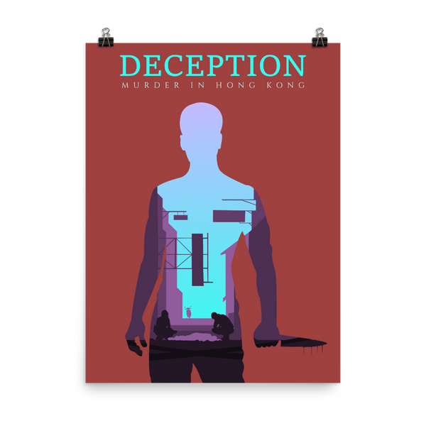 Deception Murder in Hong Kong Board game Silhouette Art Poster