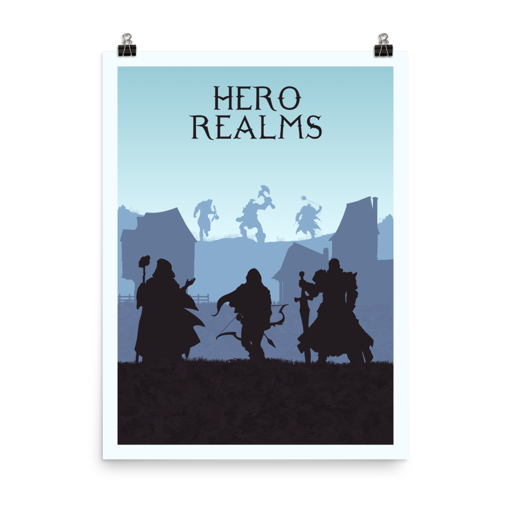 Hero Realms Minimalist Board Game Art Poster