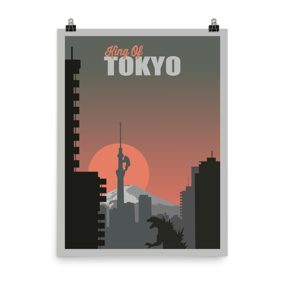 King of Tokyo Minimalist Board Game Art Poster