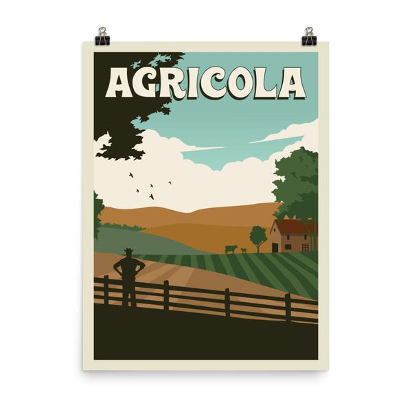Agricola Minimalist Board Game Art Poster