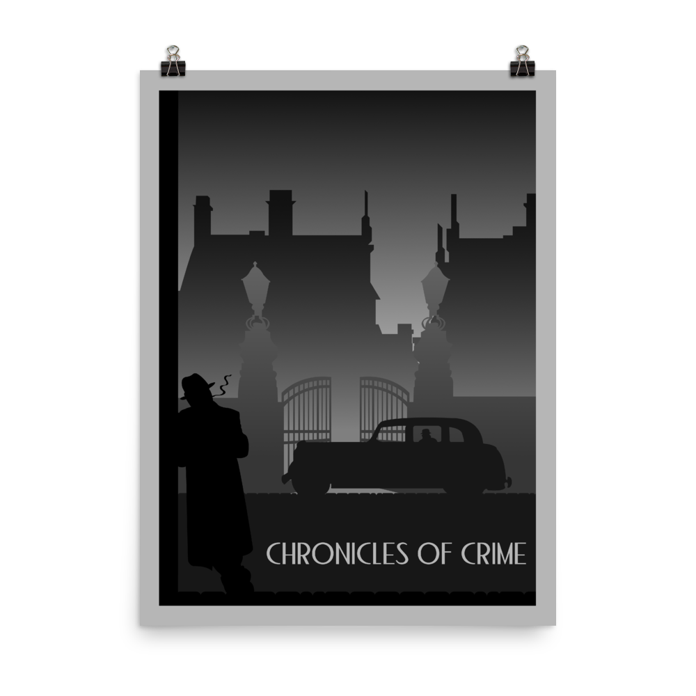Chronicles of Crime (Dusk) Minimalist Board Game Art Poster