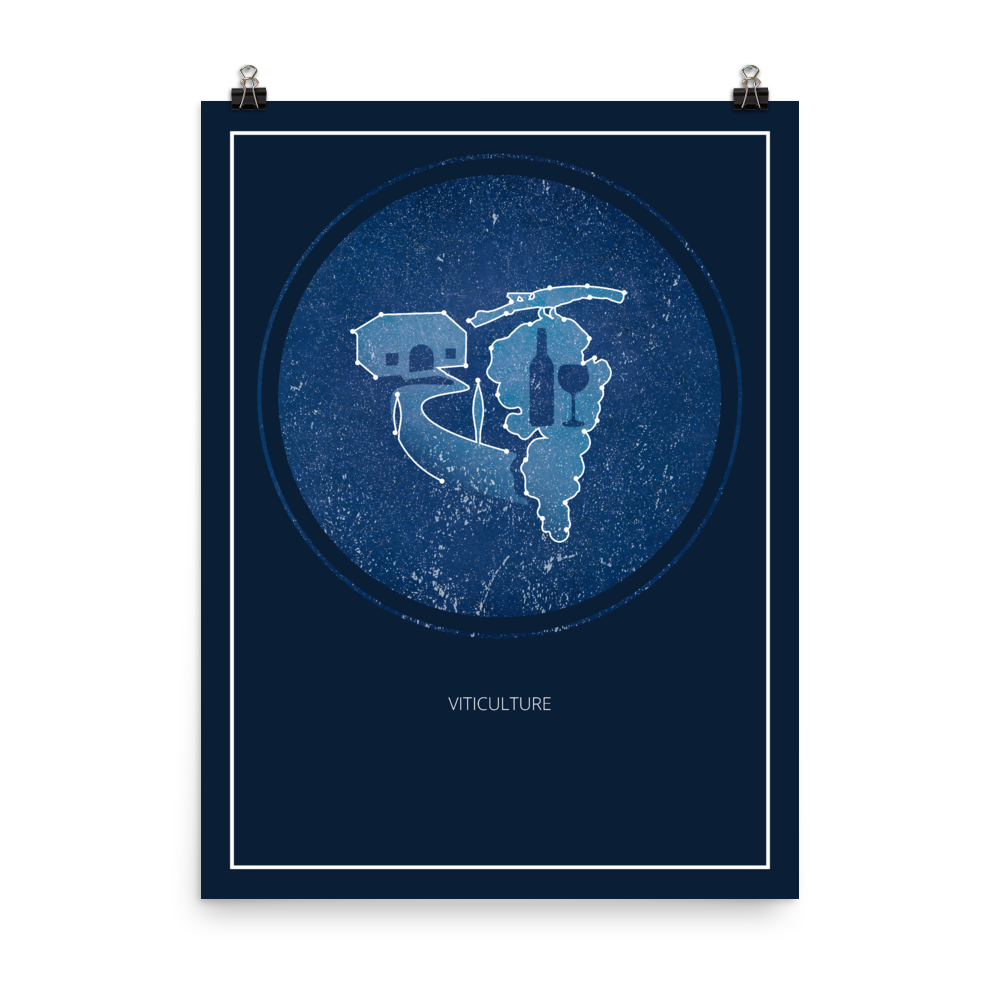 Viticulture Board Game Blue Star Constellation Art Poster