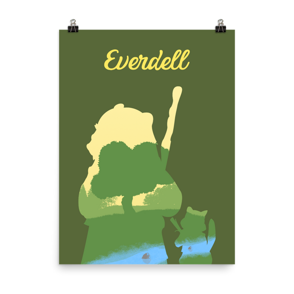 Everdell Board game Silhouette Art Poster