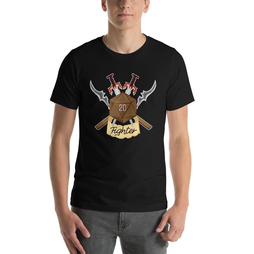 Dungeons & Dragons Fighter D20 Dice Unisex T-Shirt