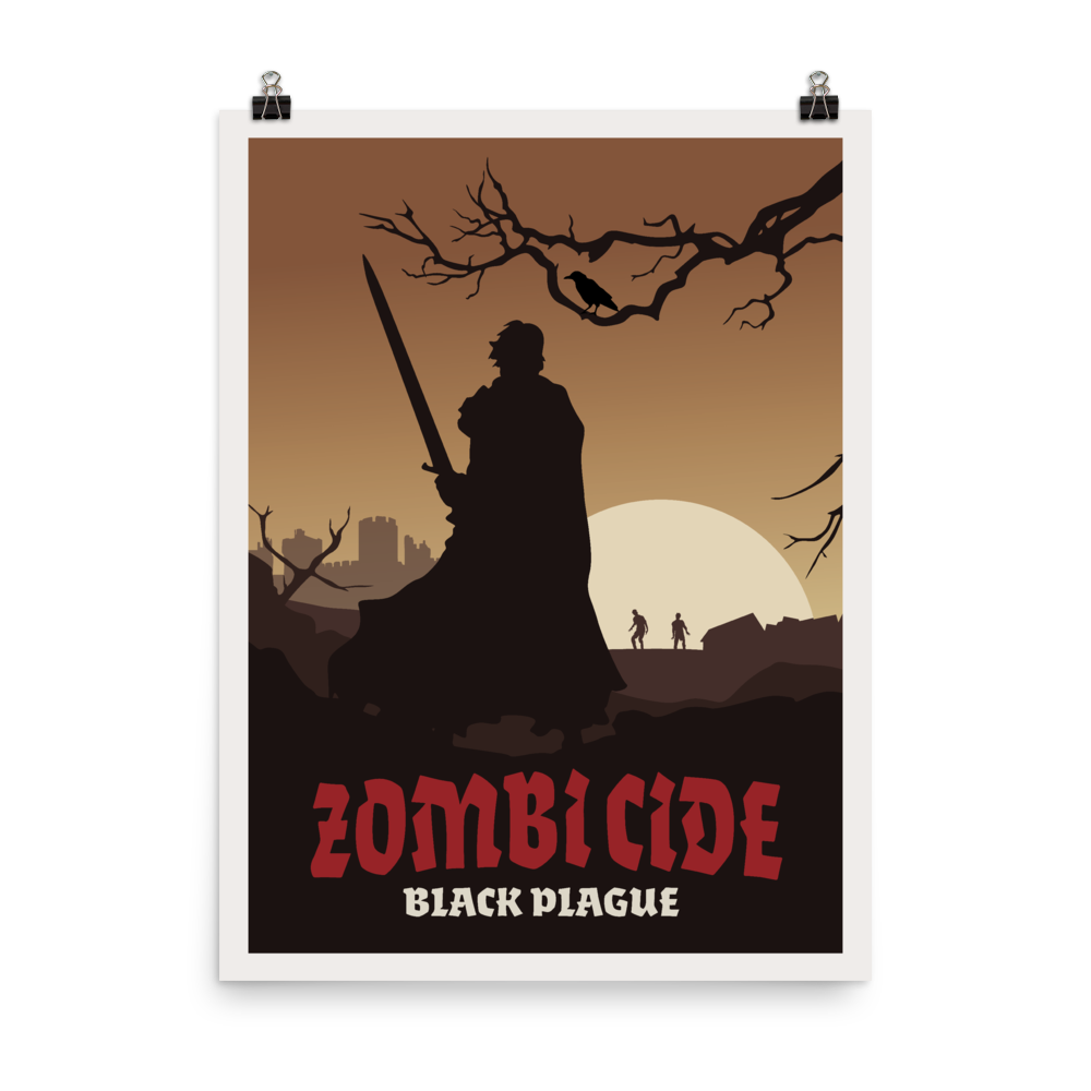 Zombicide Black Plague Minimalist Board Game Art Poster
