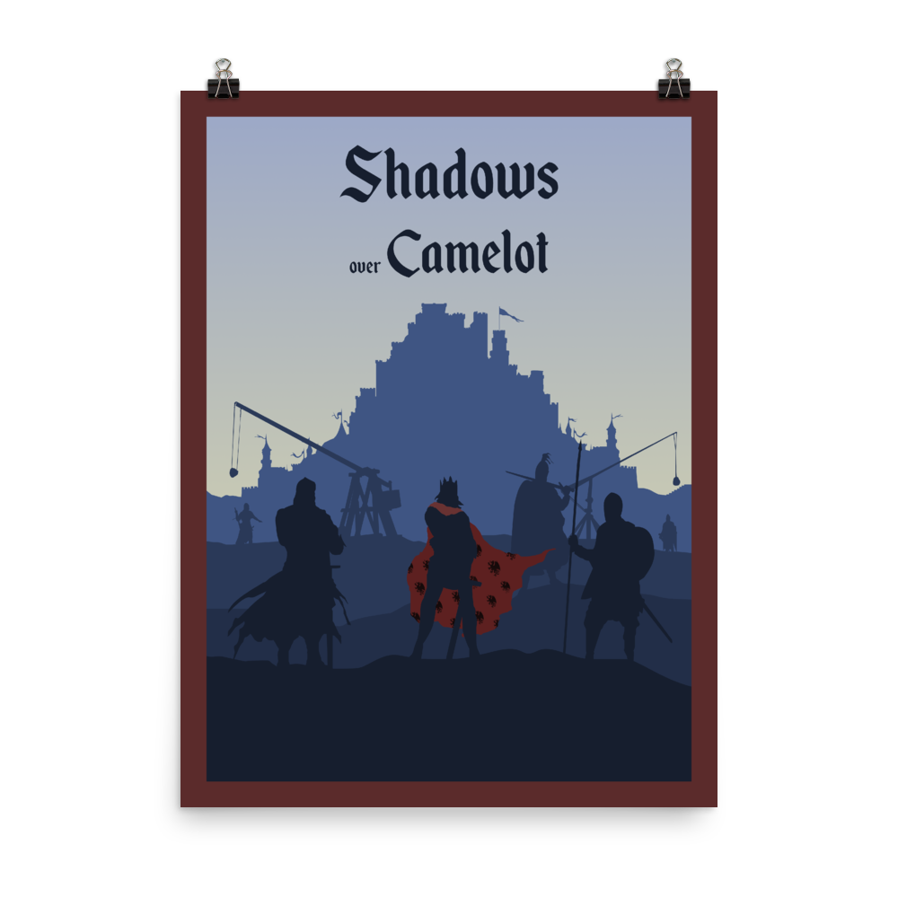 Shadows over Camelot Minimalist Board Game Art Poster