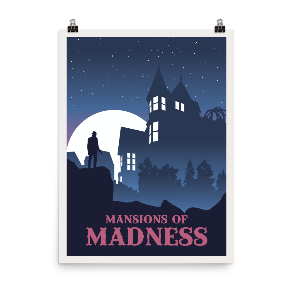 Mansions of Madness Minimalist Board Game Art Poster
