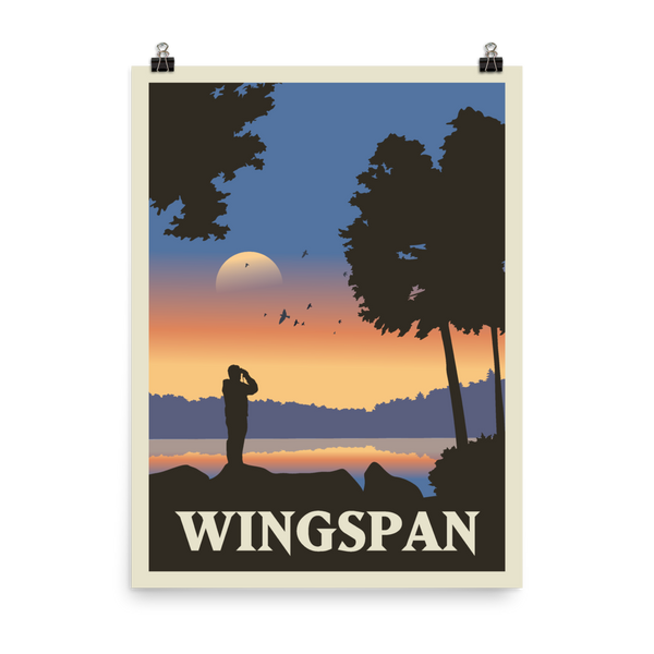 Wingspan Minimalist Board Game Art Poster
