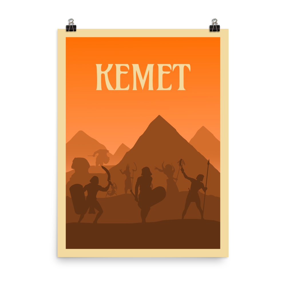 Kemet Minimalist Board Game Art Poster