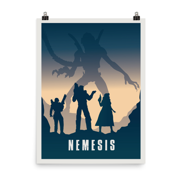 Nemesis Minimalist Board Game Art Poster