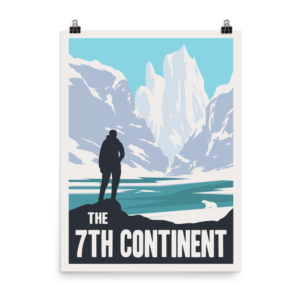 The 7th Continent Minimalist Board Game Art Poster