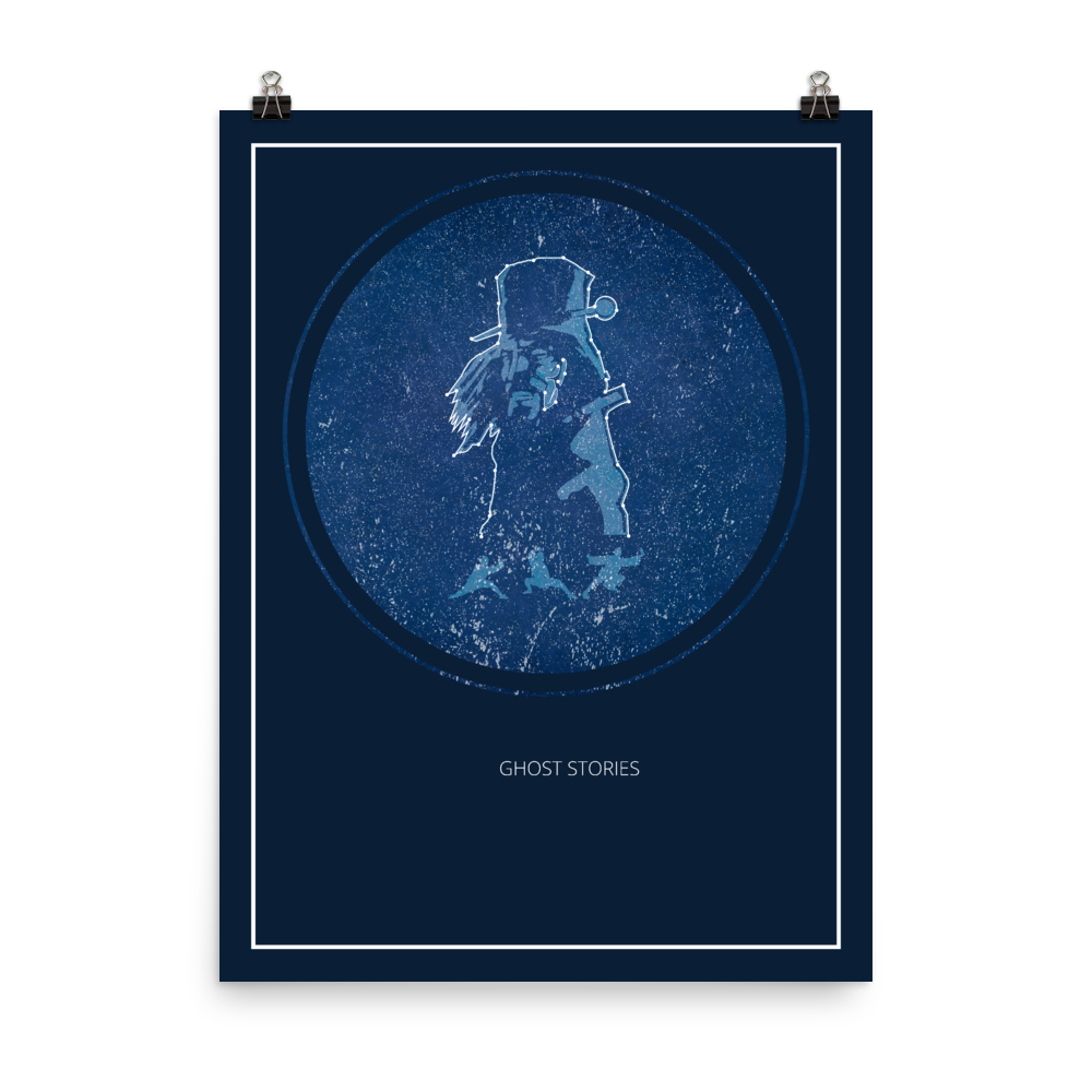 Ghost Stories Board Game Blue Star Constellation Art Poster