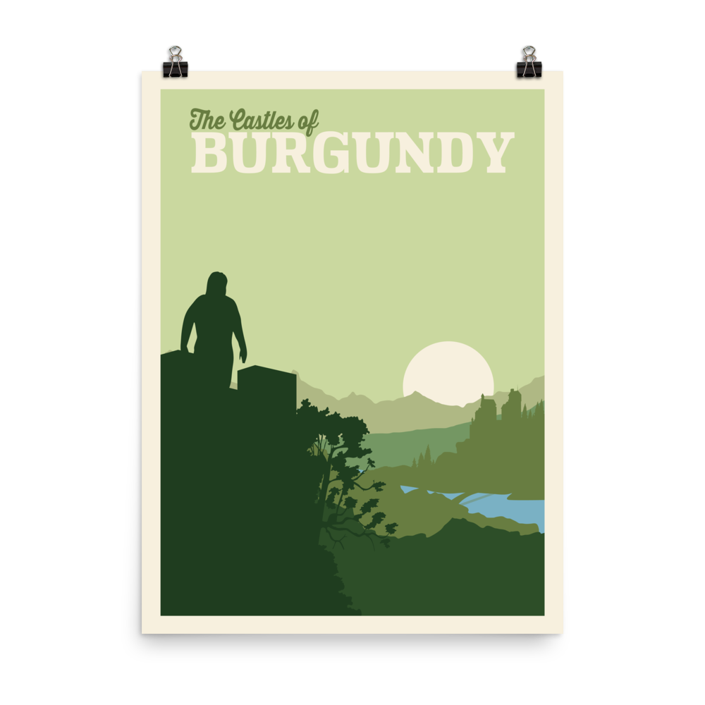 The Castles of Burgundy Minimalist Board Game Art Poster