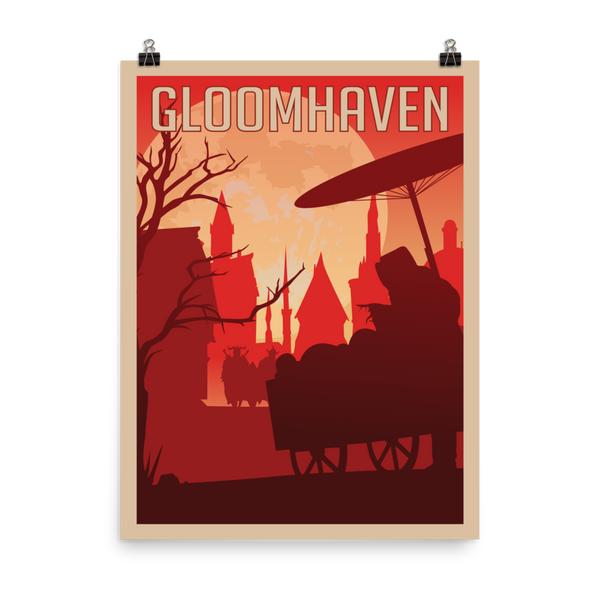 Gloomhaven Minimalist Board Game Art Poster