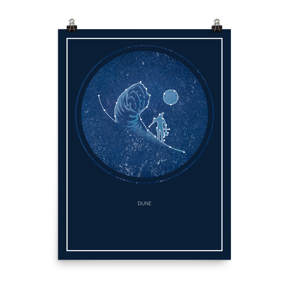 Dune Board Game Blue Star Constellation Art Poster