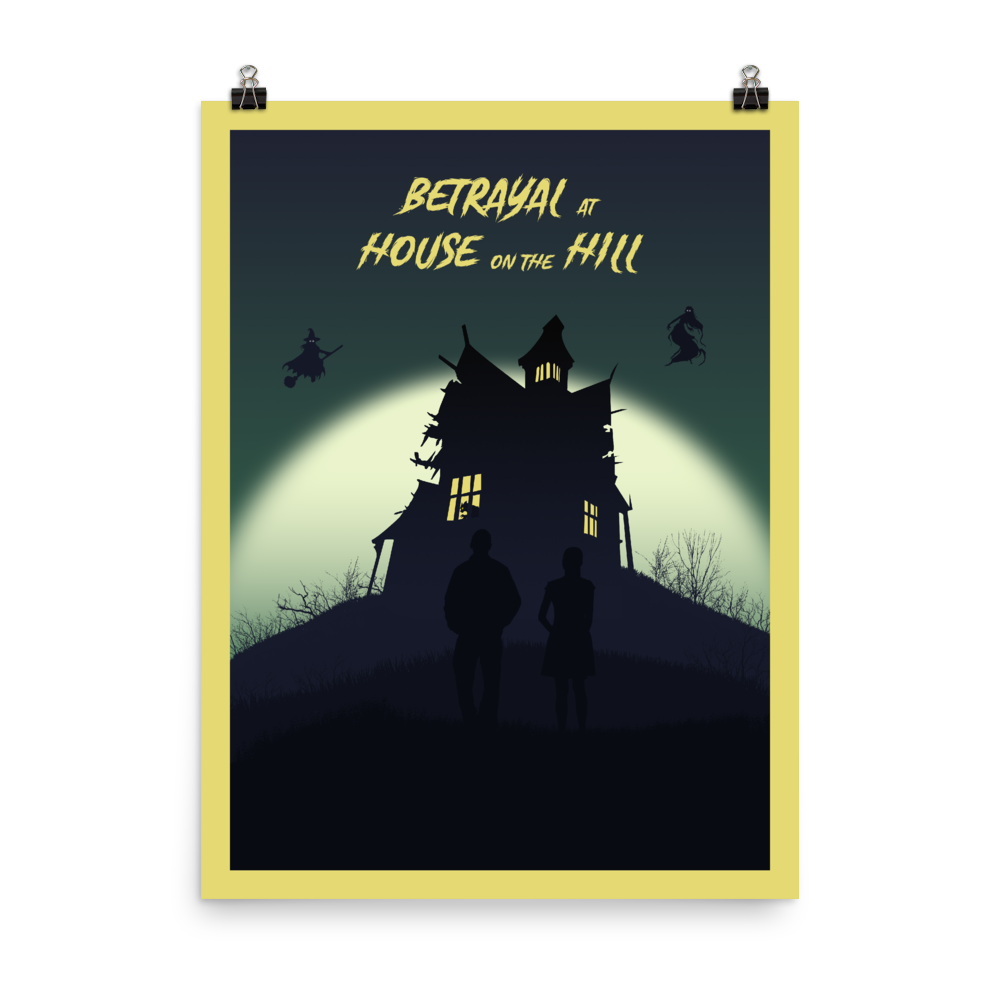 Betrayal at House on the Hill Minimalist Board Game Art Poster
