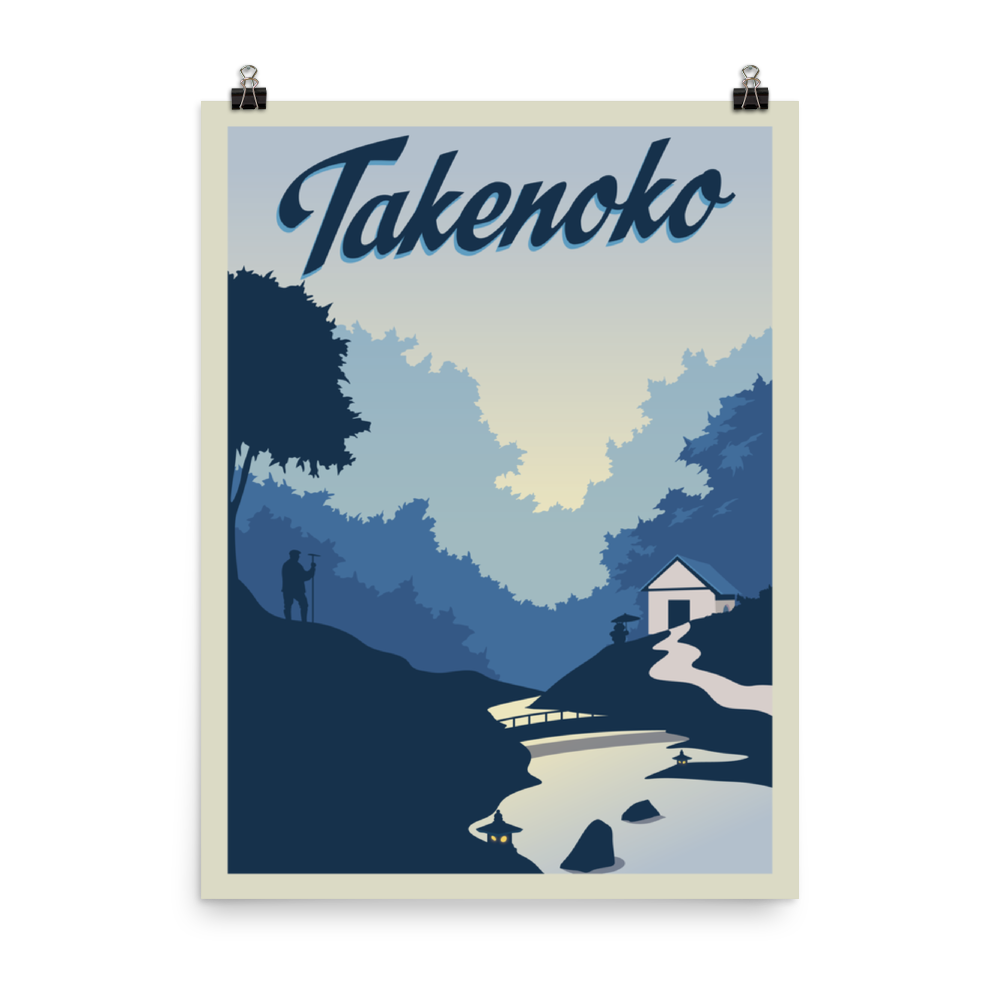 Takenoko Minimalist Board Game Art Poster